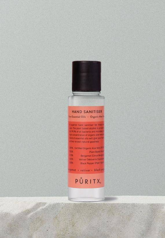 Puritx Hand Sanitiser 60 ml - Bergamot/Vetiver/Black Pepper