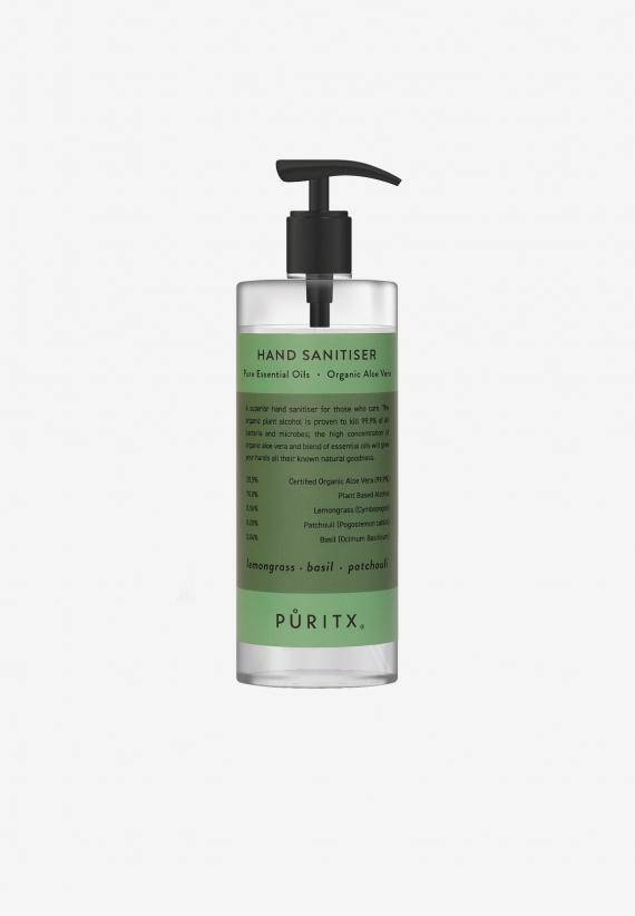 Puritx Hand Sanitiser 250 ml - Lemongrass/Basil/Patchouli