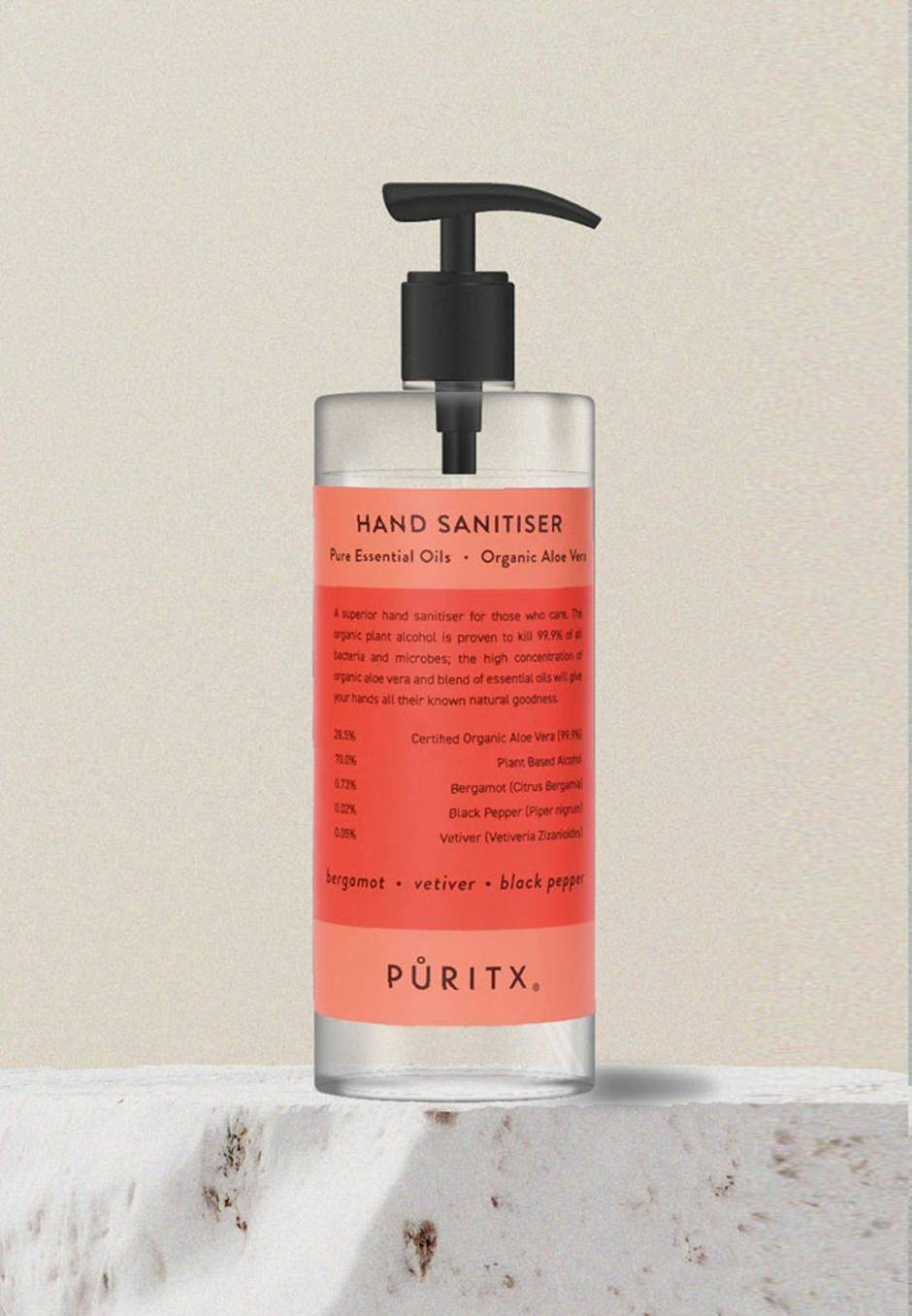 Puritx Hand Sanitiser 250 ml - Bergamot/Vetiver/Black Pepper