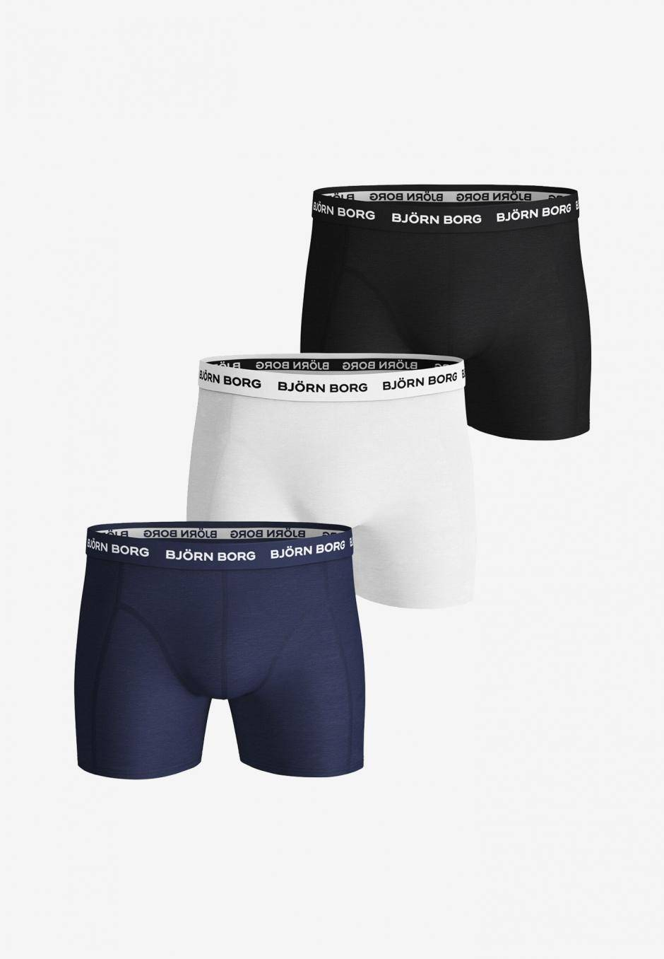Björn Borg Solid Essential Shorts 3-pack