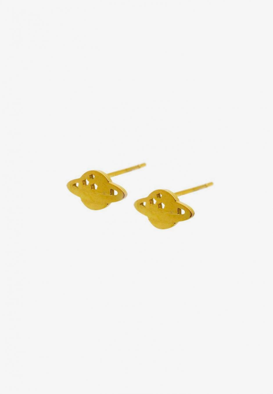 Wos Planet Mini Earrings Guld