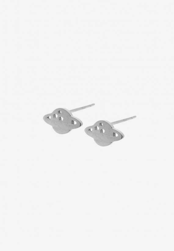 Wos Planet mini earrings silver