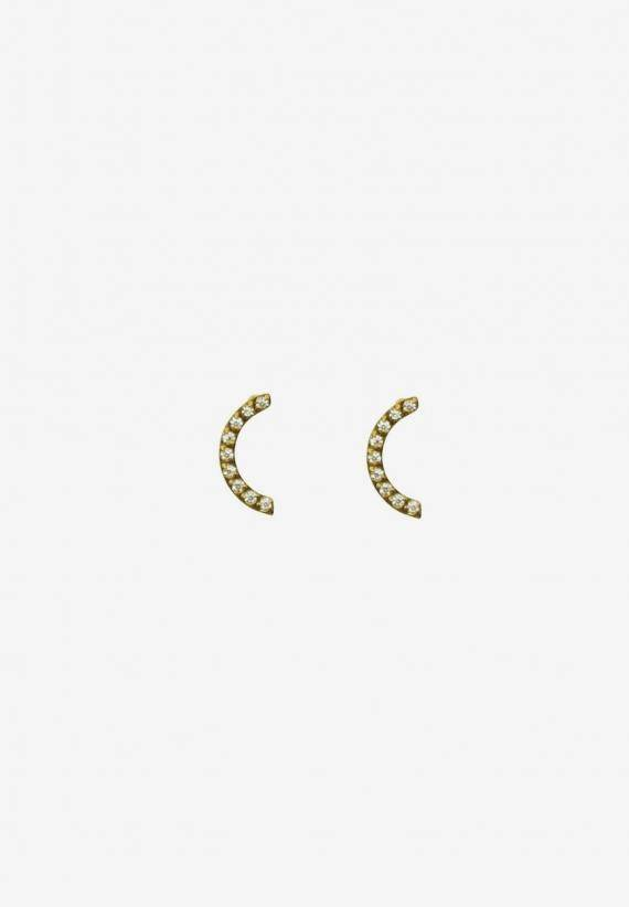 Wos Moon Light Earrings Guld