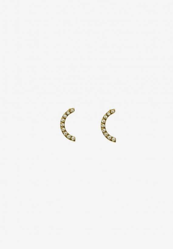 Wos Moon Light Earrings Guld