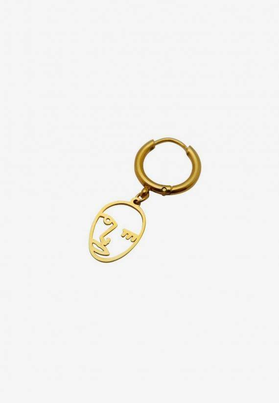 Wos Face Earring Guld
