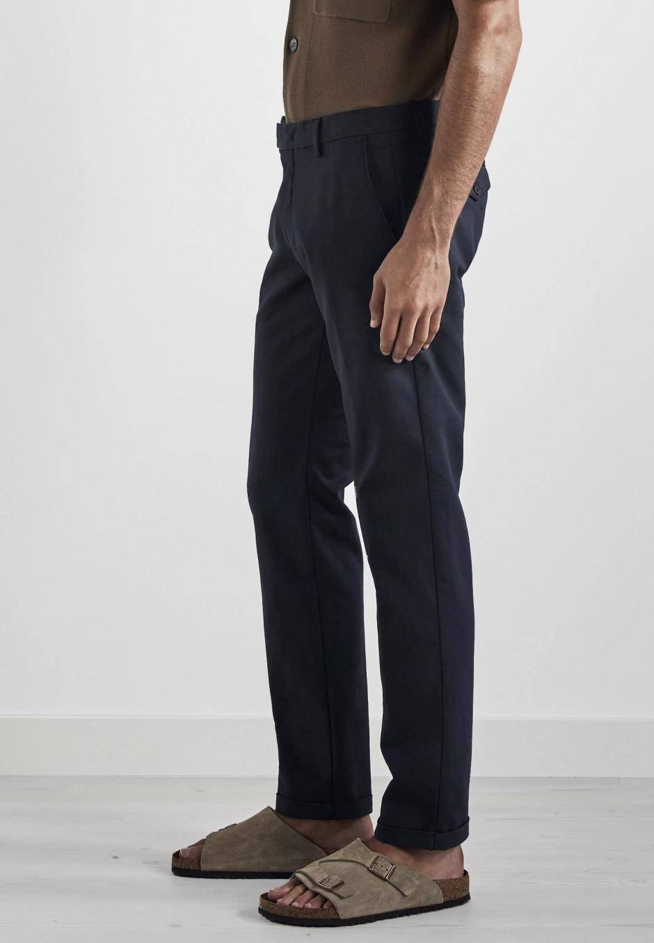 NN 07 Scott 1386 Regular Cotton Trouser Navy Blue