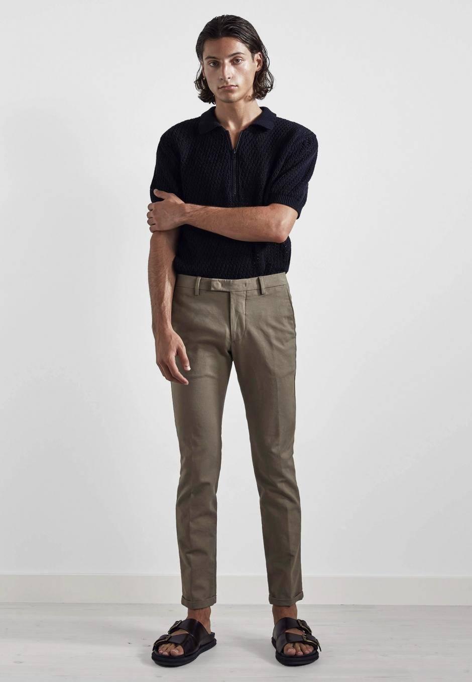 NN07 Scott 1386 Regular Cotton Trouser Khaki
