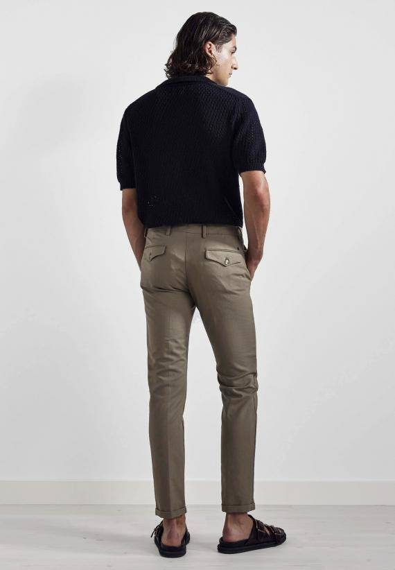 NN 07 Scott 1386 Regular Cotton Trouser Khaki