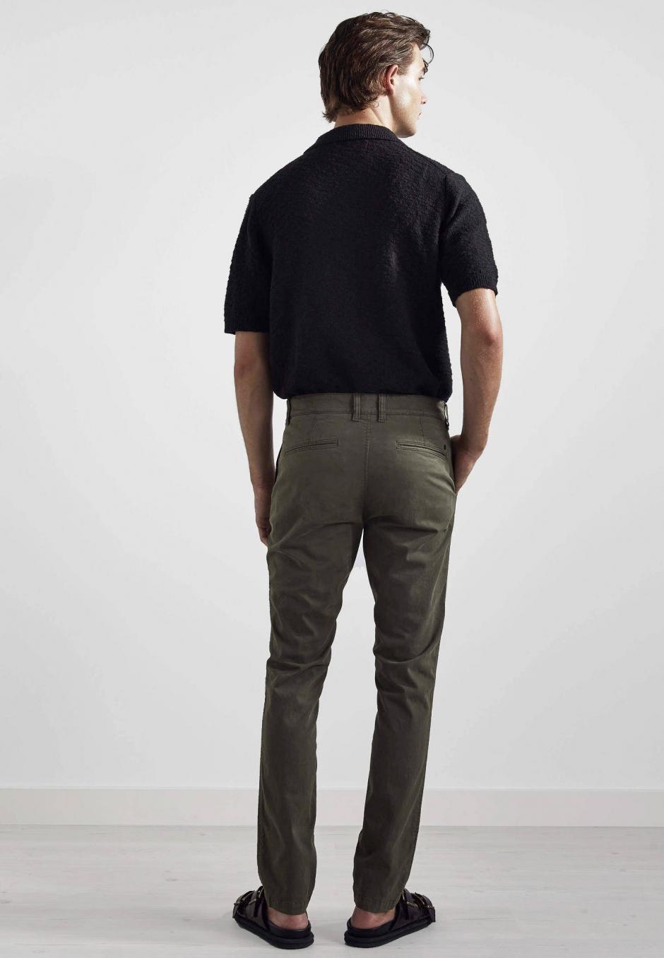 NN07 Marco 1400 Slim Cotton Chino Army