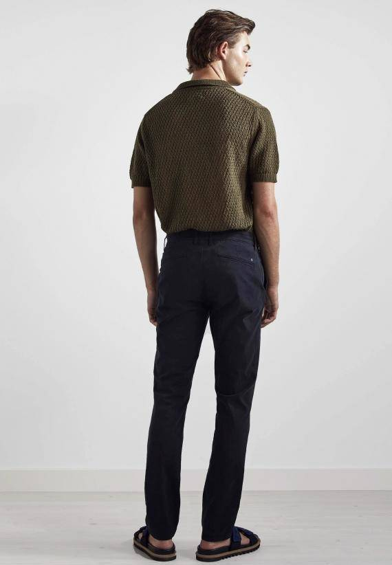 NN07 Marco 1400 Slim Cotton Chino Navy Blue