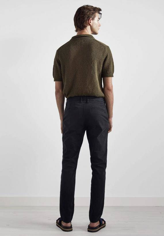 NN07 Marco 1400 Slim Cotton Chino Black