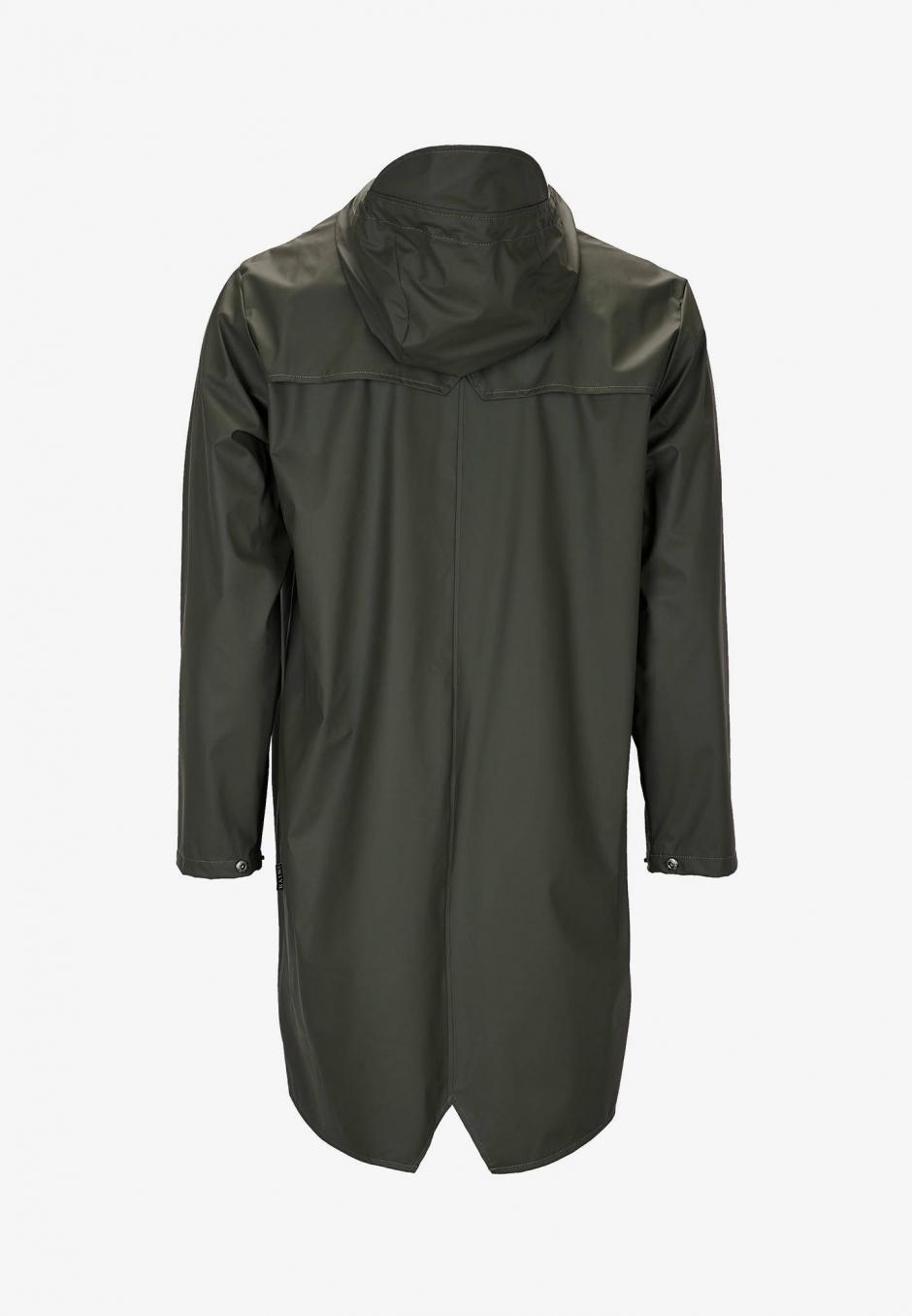 Rains Long Jacket Grön