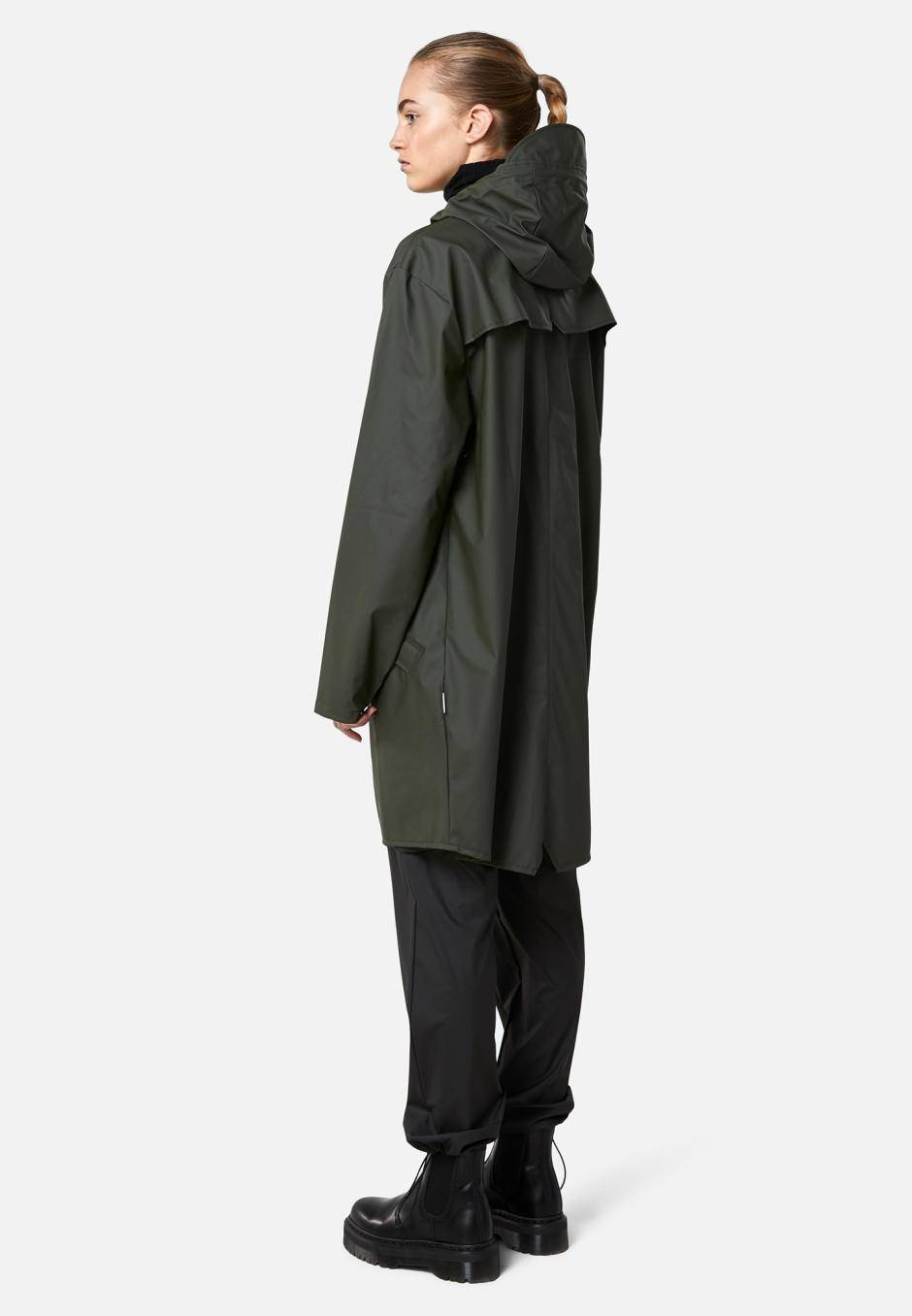 Rains Long Jacket Grön