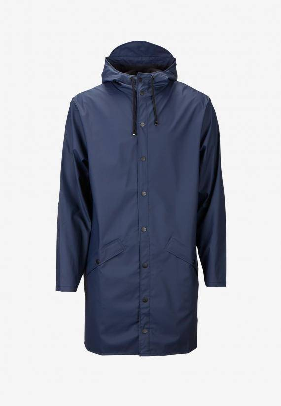 Rains Long Jacket Blå
