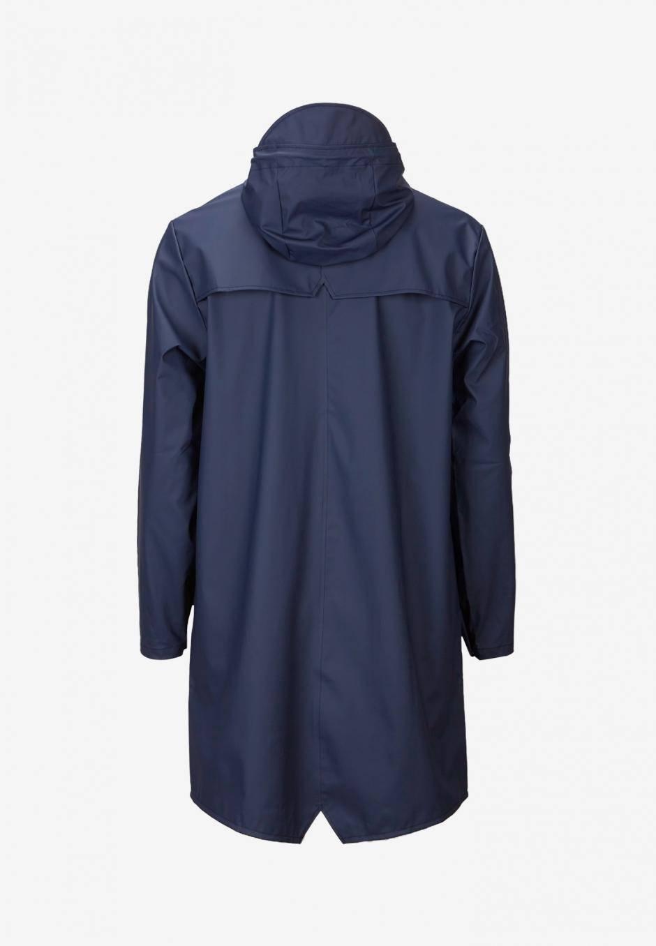 Rains Long Jacket Blå