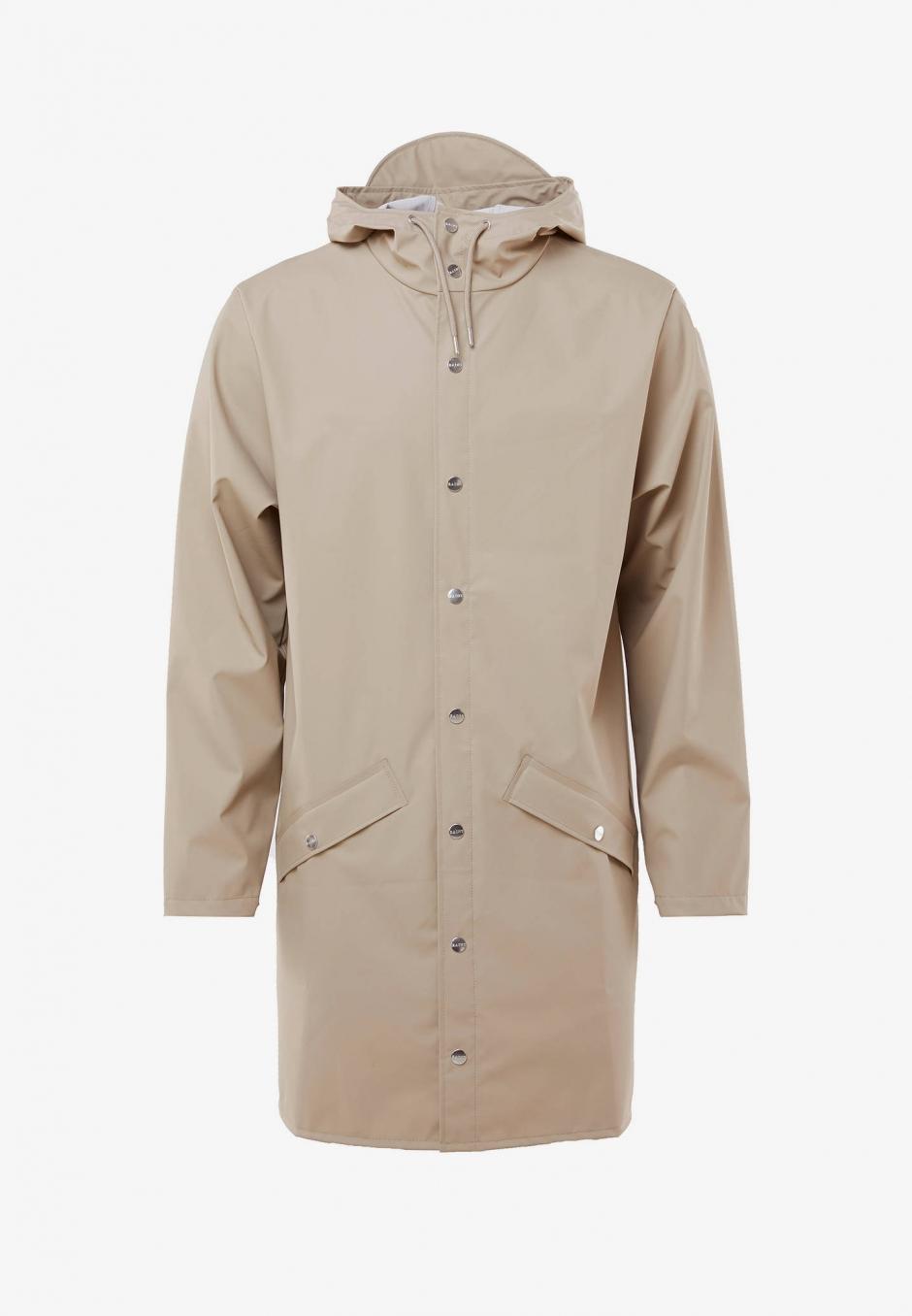 Rains Long Jacket Beige