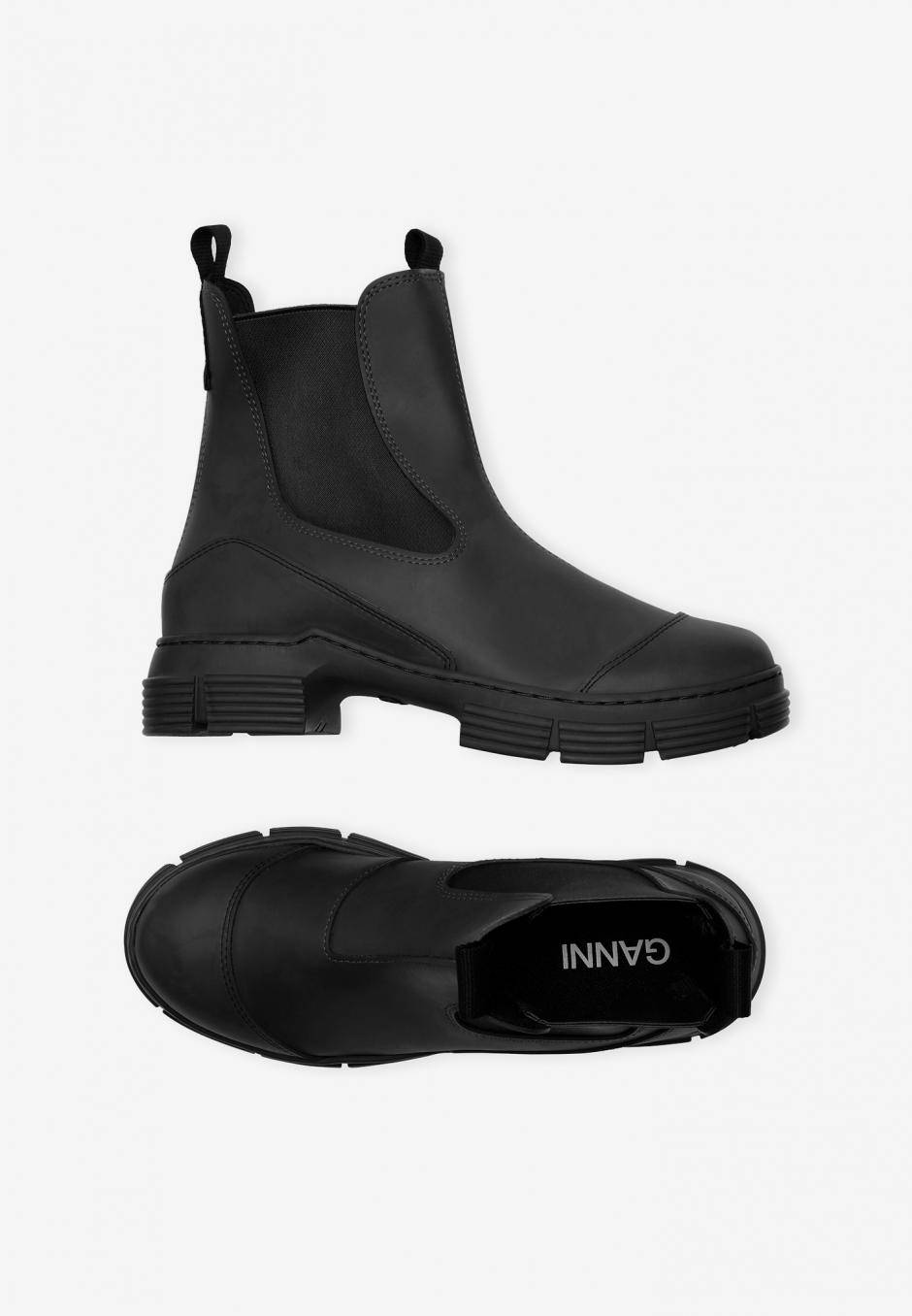Ganni Recycled Rubber City Boots