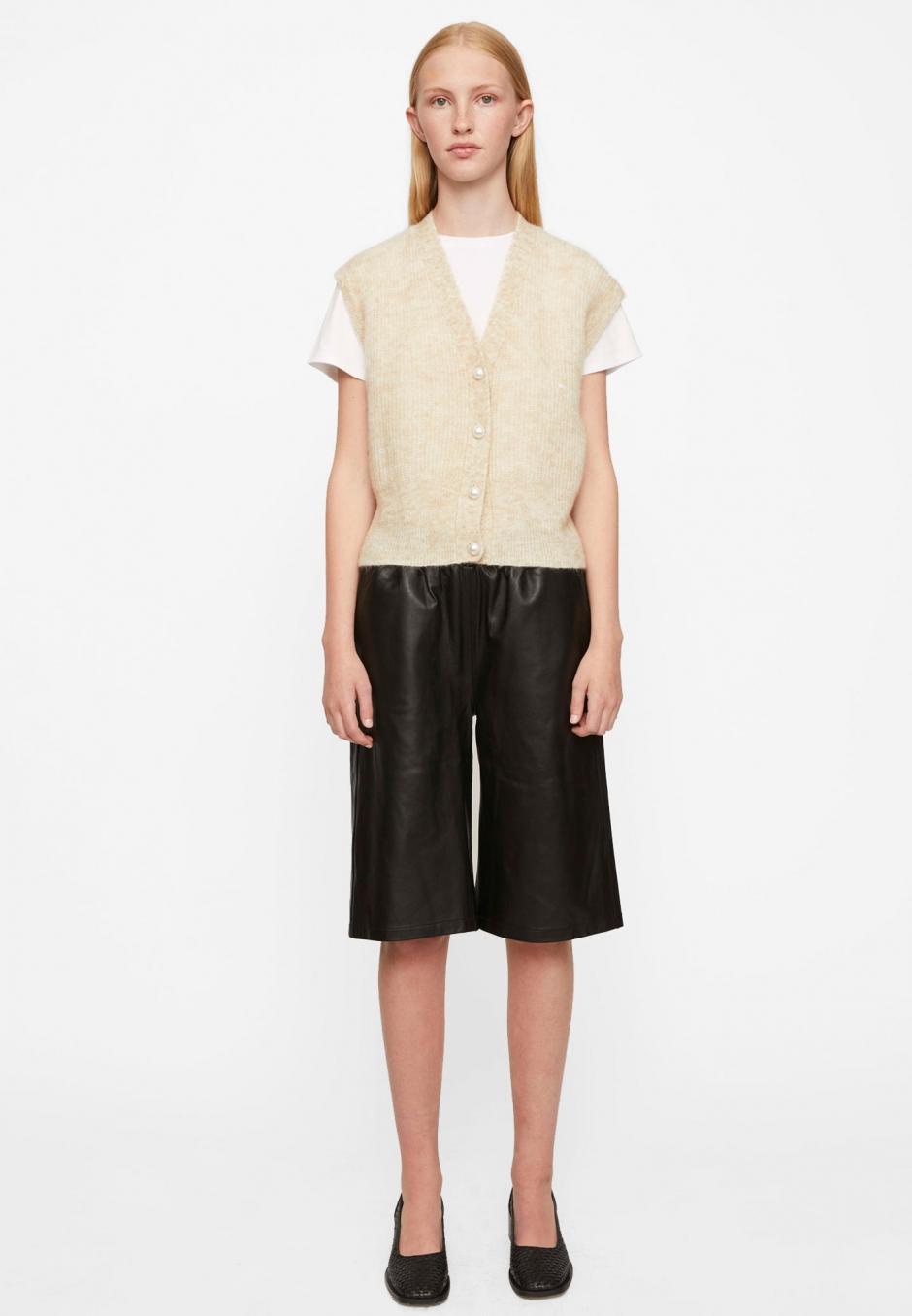 Just Female Paso Leather Bermuda Shorts