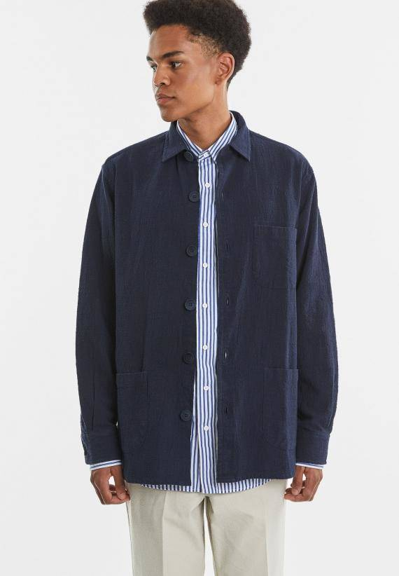 Schnayderman's Overshirt Textured Cotton