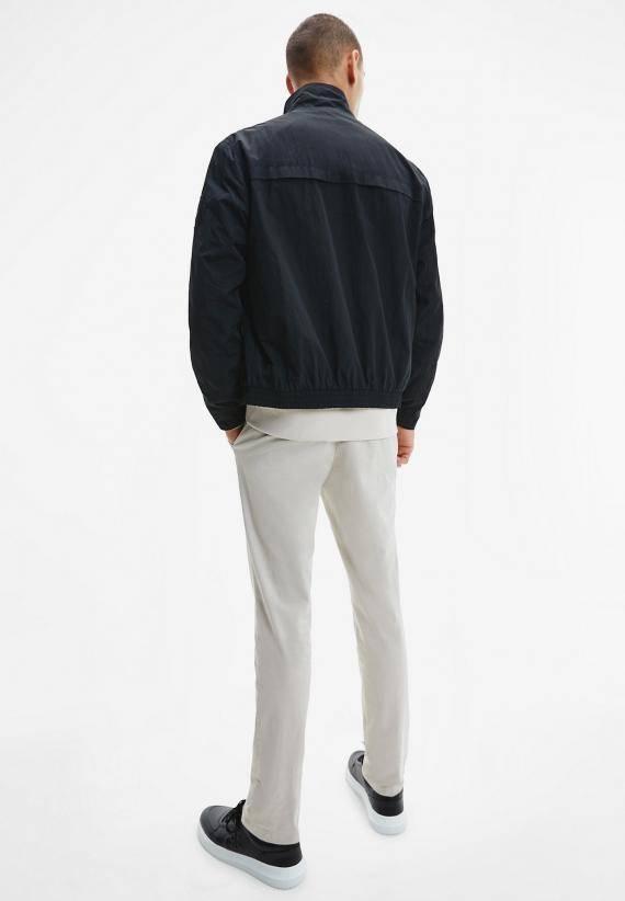 Calvin Klein Crinkle Nylon Zip Up Jacket