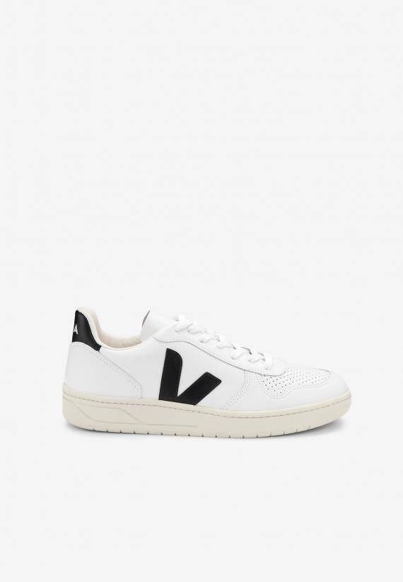 Veja Man V-10 Leather White Black