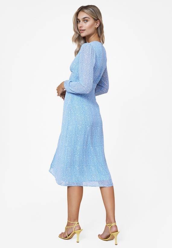 Adoore Paris Dress Printed Blue