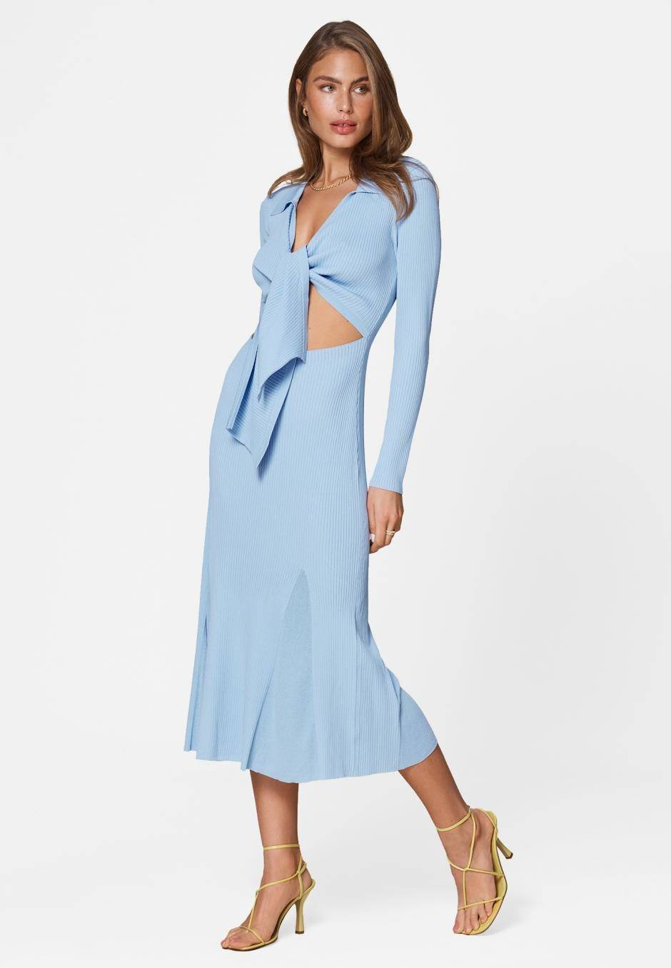 Adoore Knitted Riviera Dress Blue