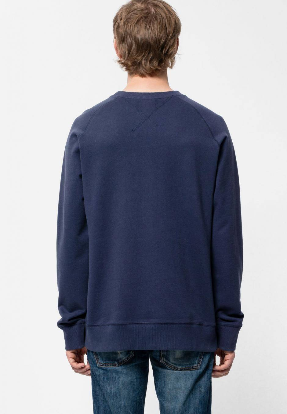 Nudie Jeans Samuel Logo Sweatshirt Midnight