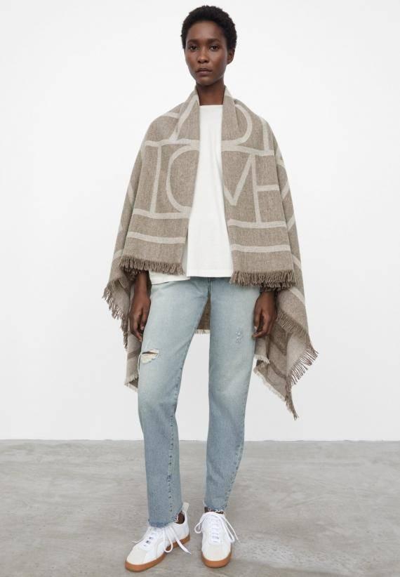 Totême Monogram Wool Cashmere Scarf