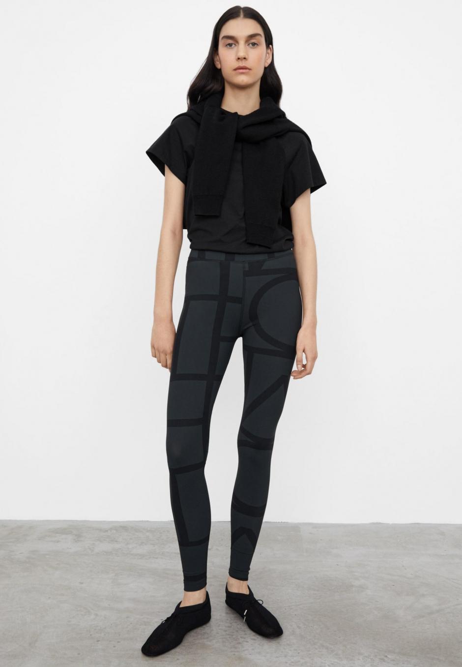 Totême Monogram Leggings Black