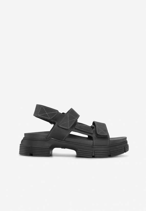 Ganni Recycled Rubber Velcro Sandal