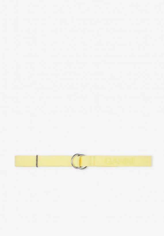 Ganni Utility Webbing O-ring Belt