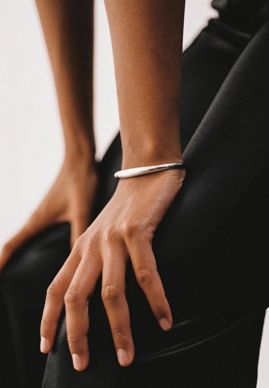 All Blues Snake Bracelet Thick Polished