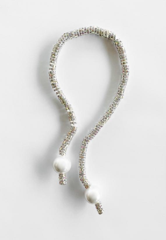 Pearl Octopuss.y Silver Diamond Bracelet