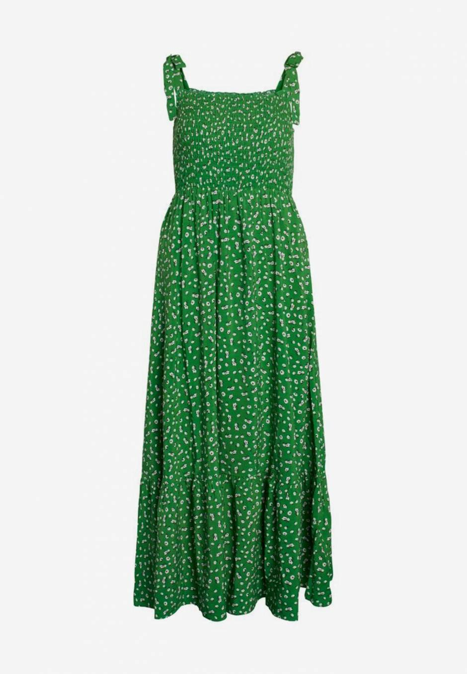 Co'couture Green Flower Strap Dress