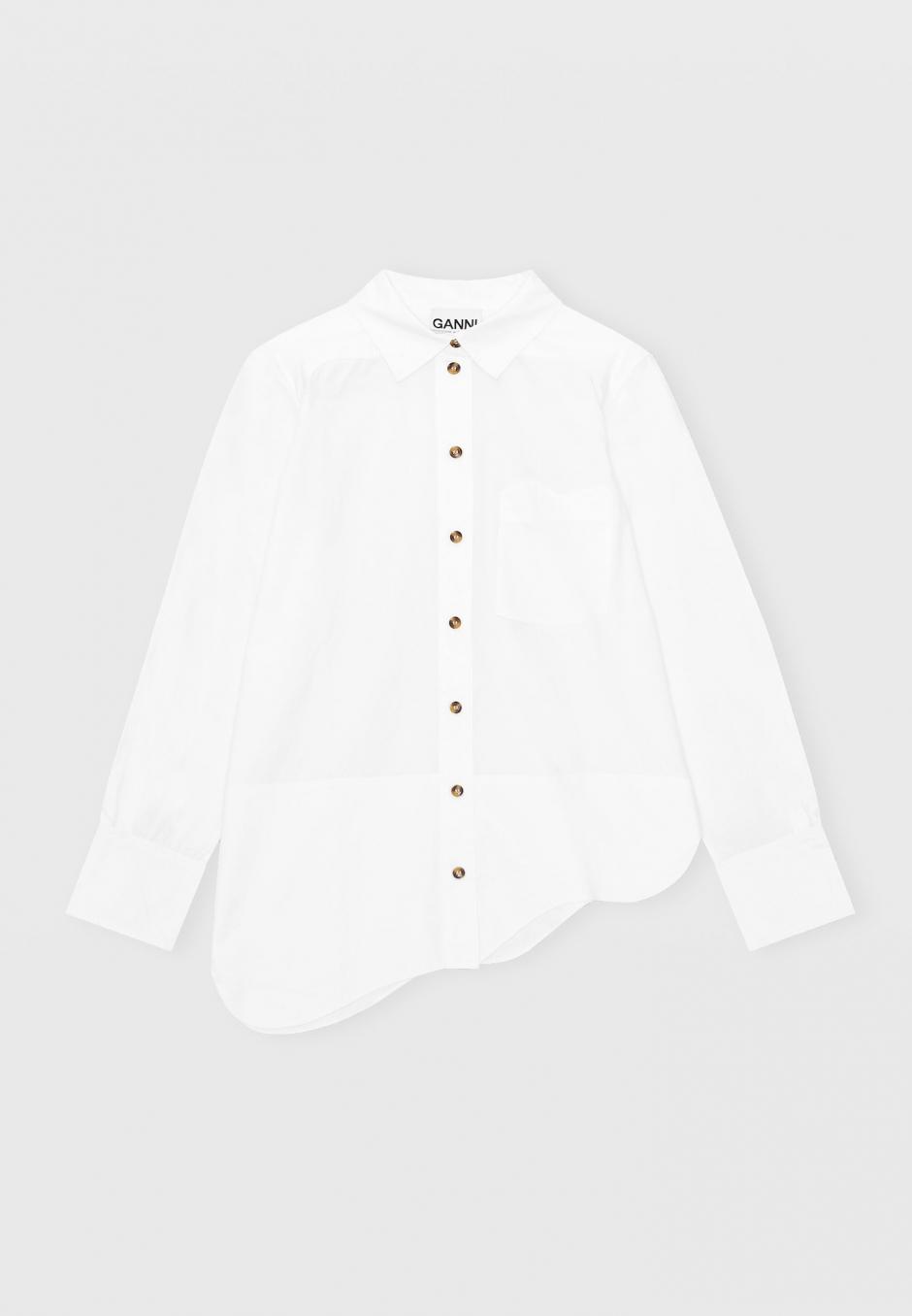 Ganni Asymetrical Wavy Shirt