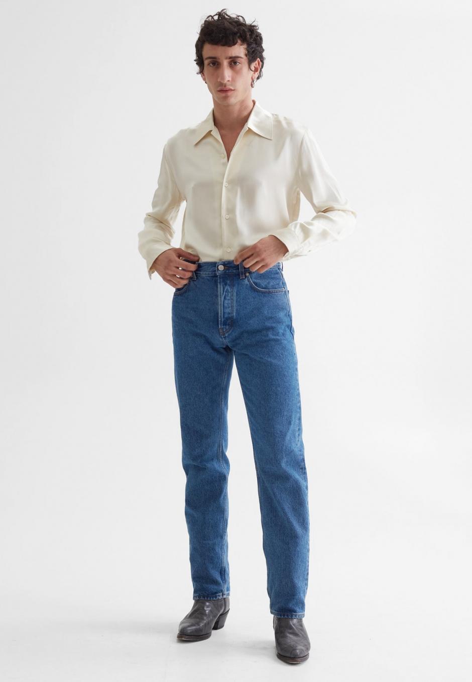Séfr Straight Cut Jeans Stone Wash