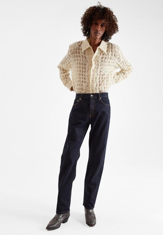 Séfr Straight Cut Jeans Soft Raw Indigo Blue