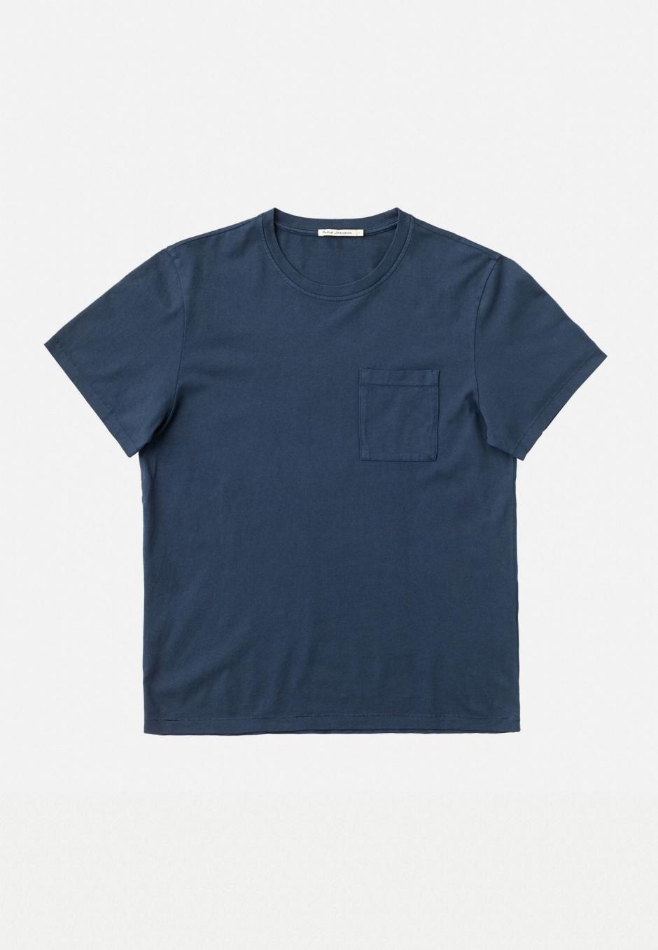 Nudie Jeans Roy One Pocket Tee Indigo Blue