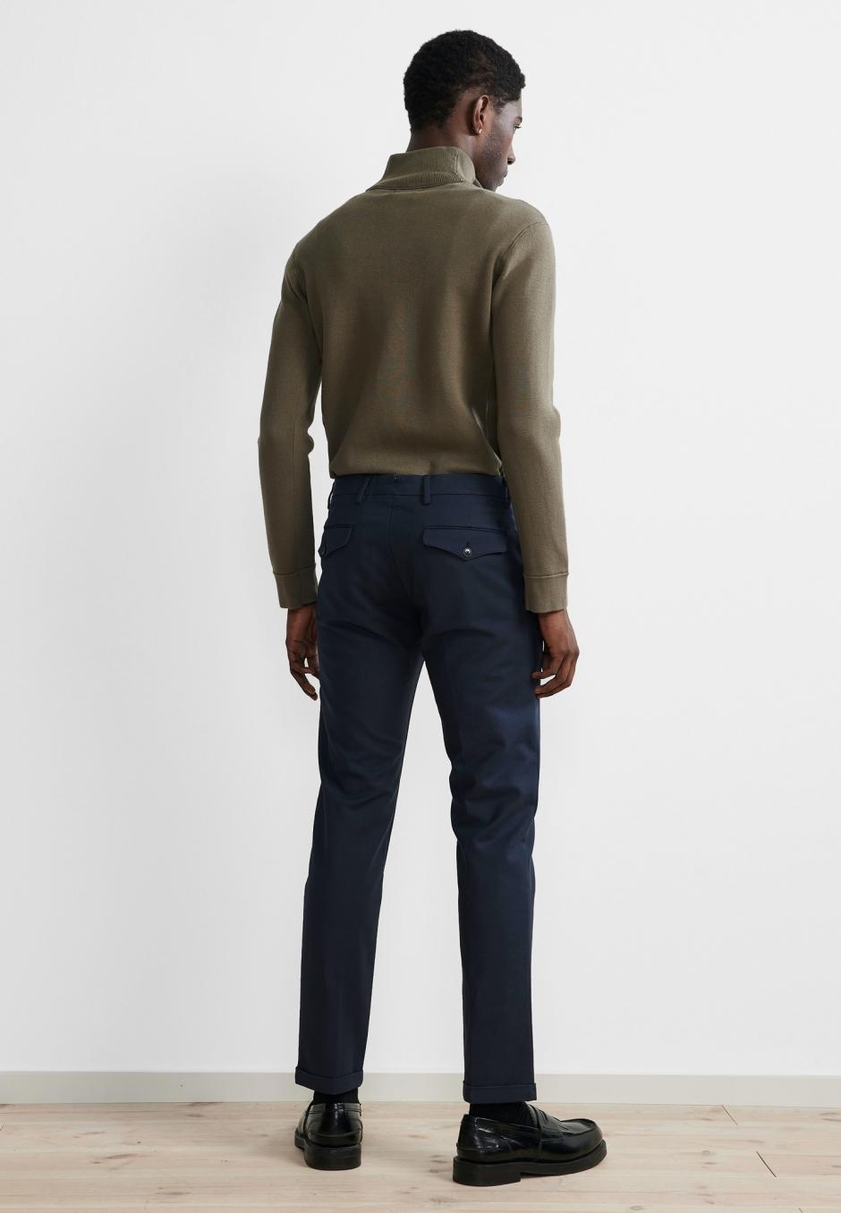 NN07 Scott 1386 Regular Cotton Trouser Navy Blue