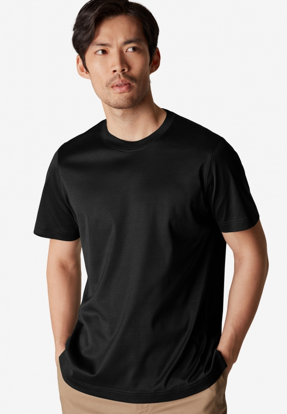 Eton Black Filo di Scozia t-shirt