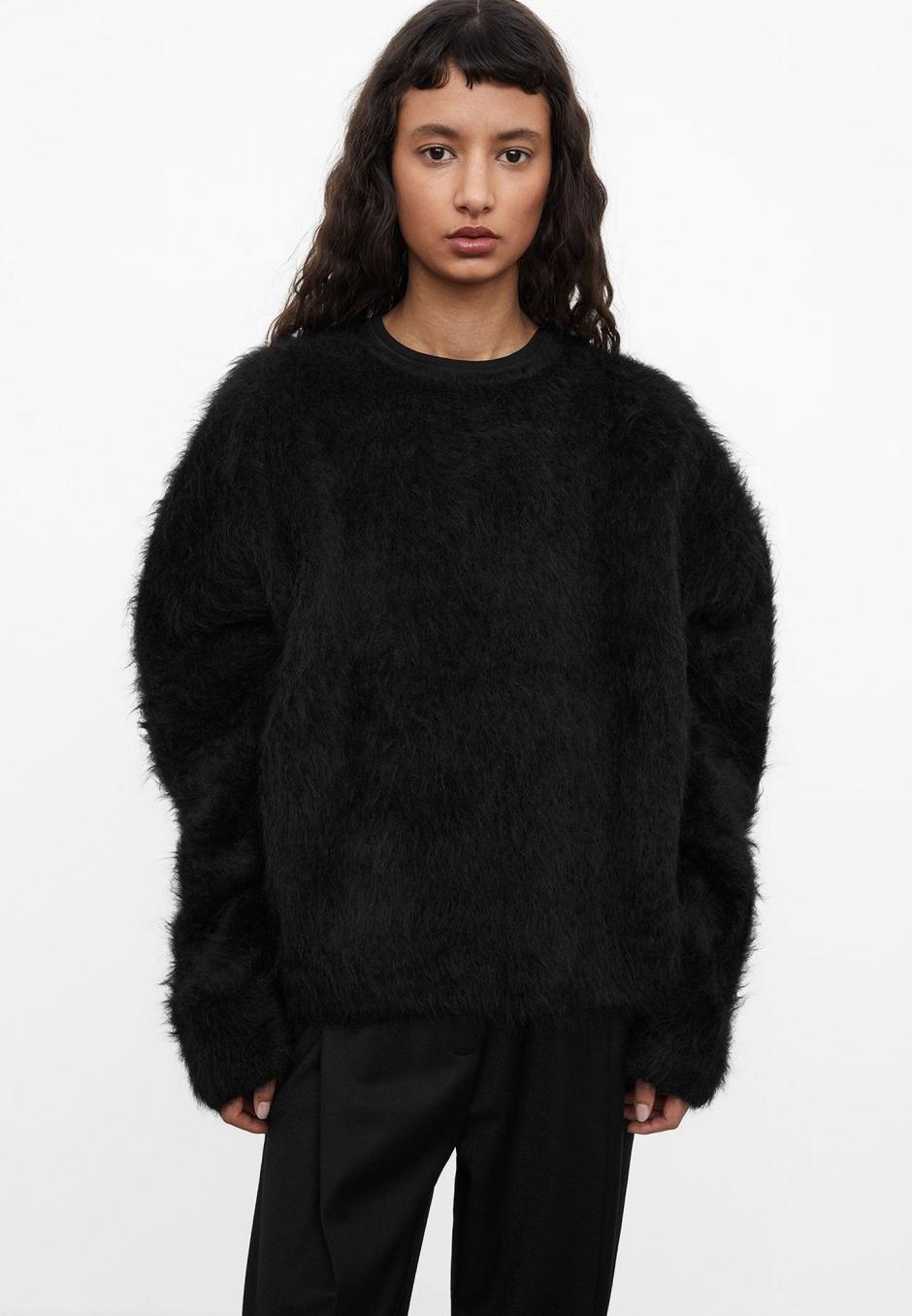 Totême Boxy Alpaca Knit Black