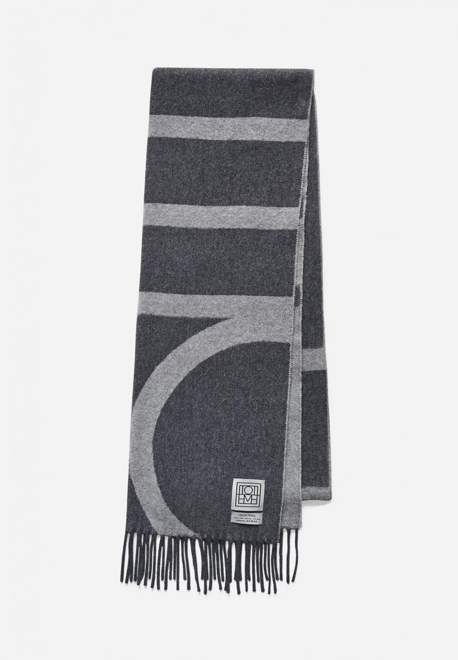 Totême Monogram Jacquard Wool Scarf