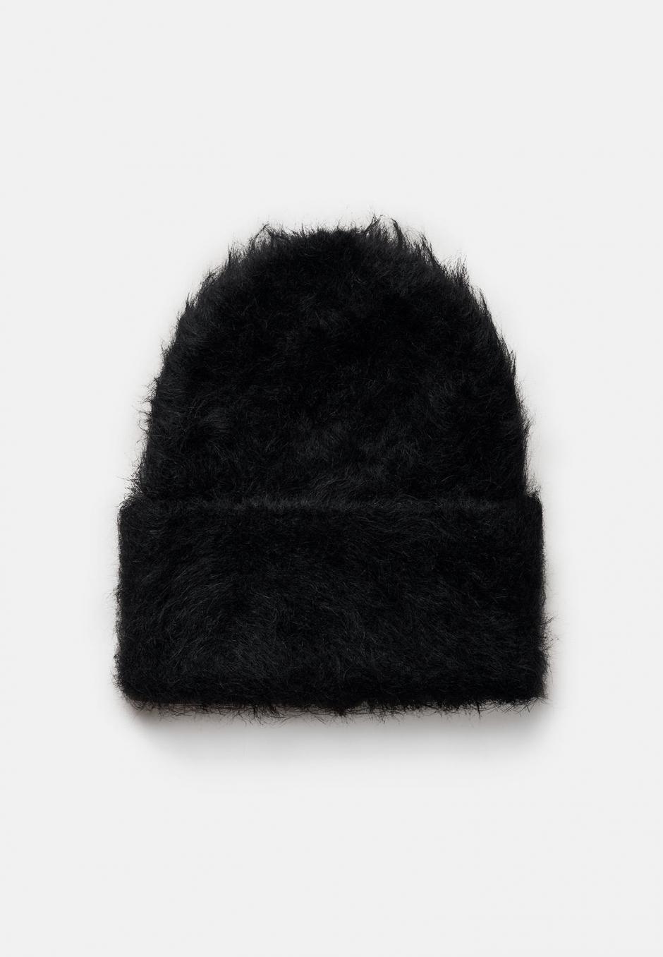 Totême Alpaca Knit Beanie Black