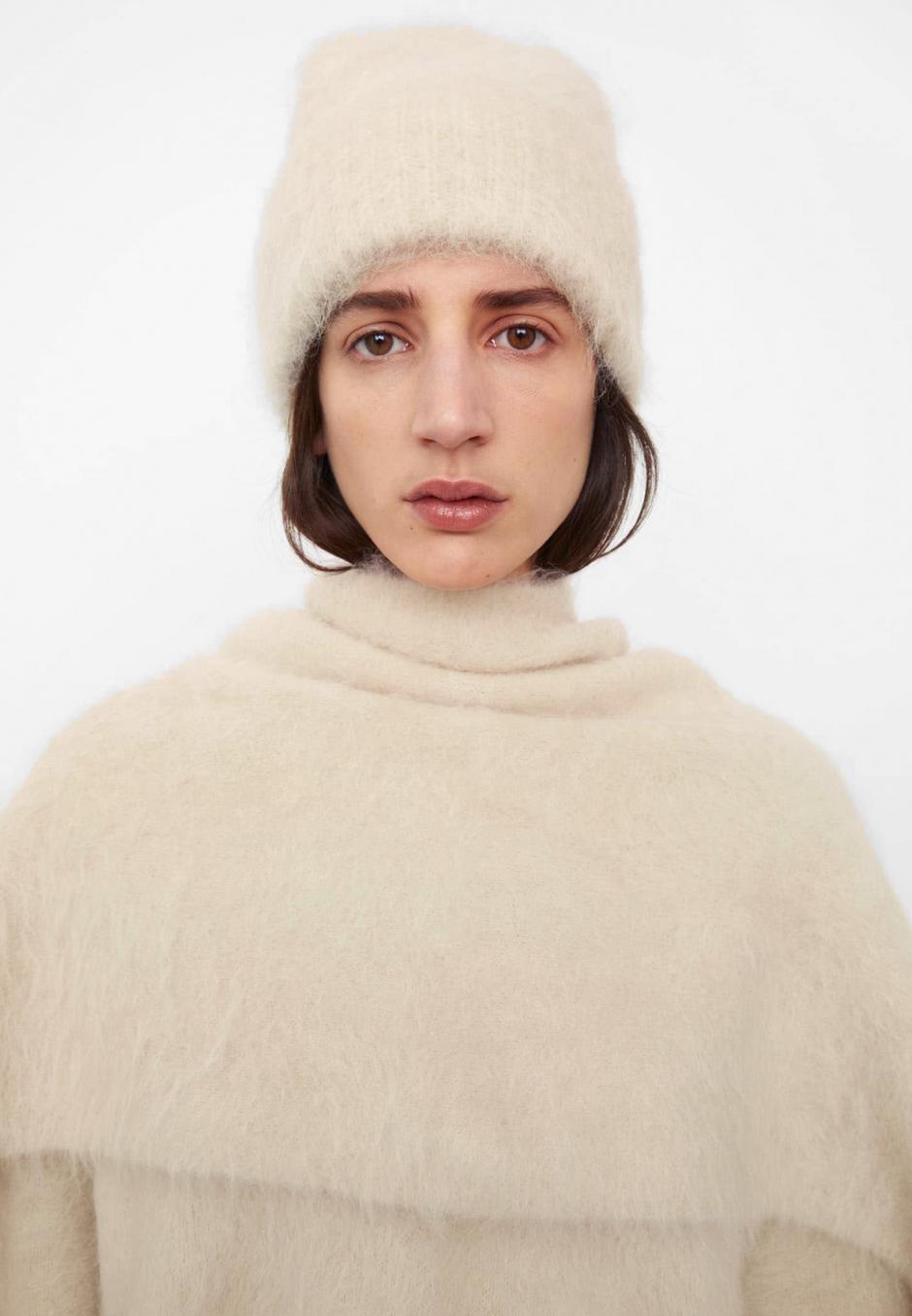 Totême Alpaca Knit Beanie Off White