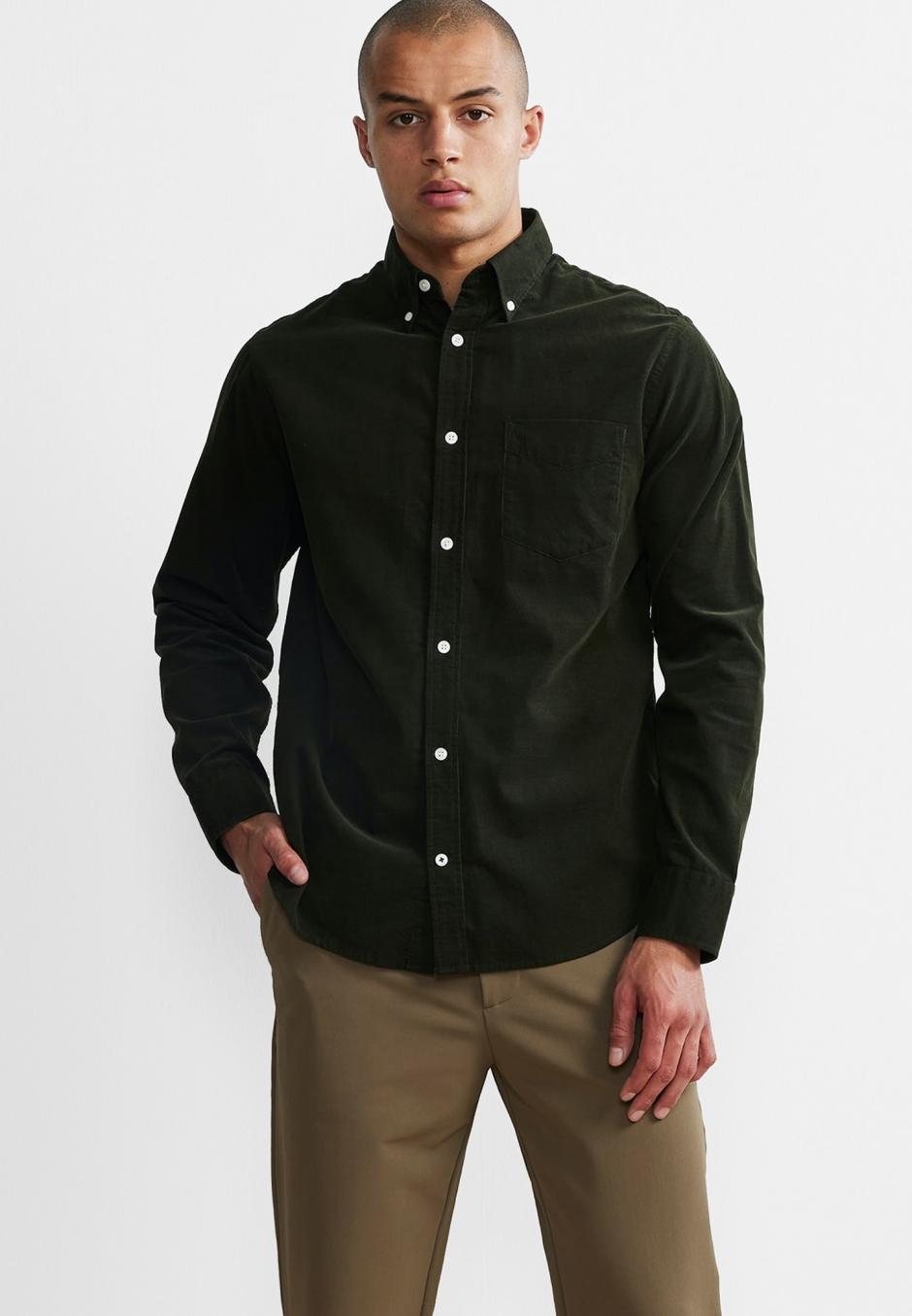 NN07 Levon 5723 Regular Cotton Corduroy Shirt