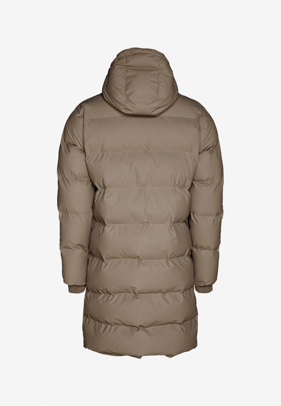 Rains Long Puffer Jacket Taupe
