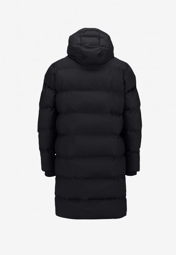 Rains Long Puffer Jacket Black