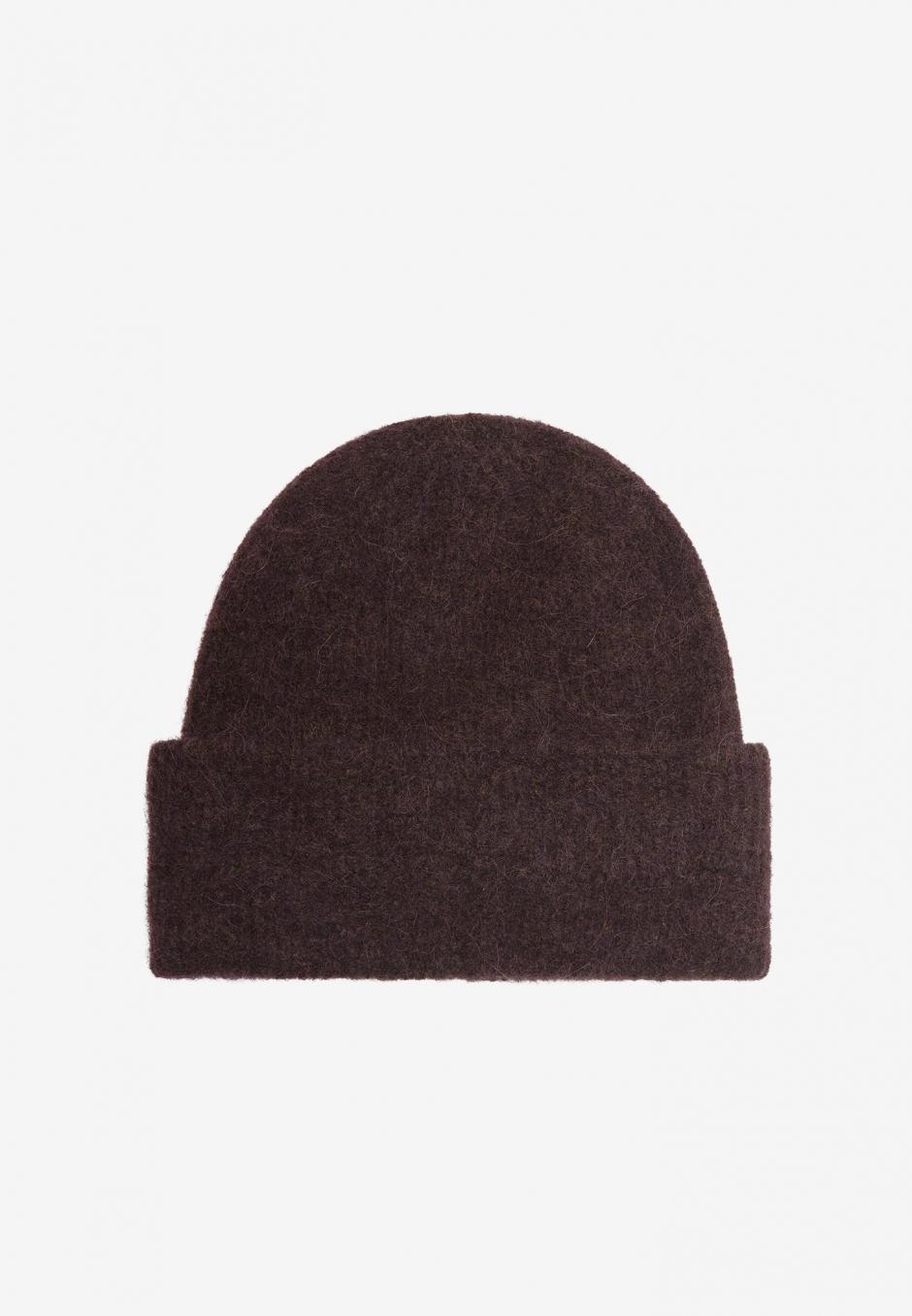 Samsøe Samsøe Nor Hat Chocolate Plum Melange