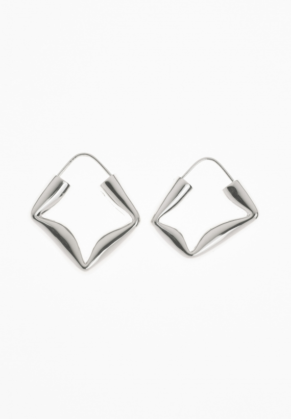 All Blues Straw Earrings Polished Silver